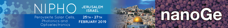NIPHO 2019 - Israel - Perovskite solar cells, photonics and optoelectronics
